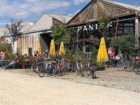 Beach Bar, Parasol, Bike, Tourism, City, Wheels, Wheel