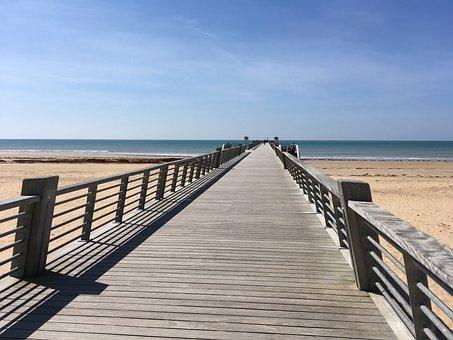 St Jean De Monts, France, Beach, Pier, Beaches
