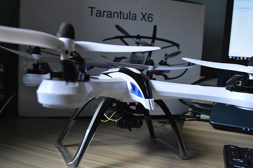 Drone, Mini Plane, Propellers