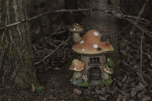 Fairy, House, Magical, Mushroom, Forest