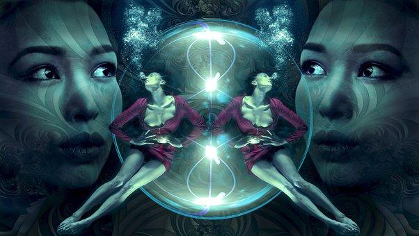 Fantasy, Water, Mystical, Composing, Underwater, Float
