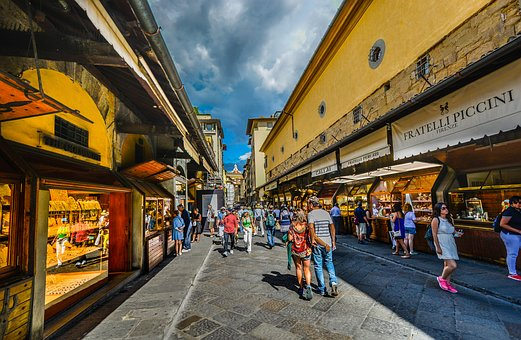 Ponte, Vecchio, Firenze, Florence, Italy, Shopping