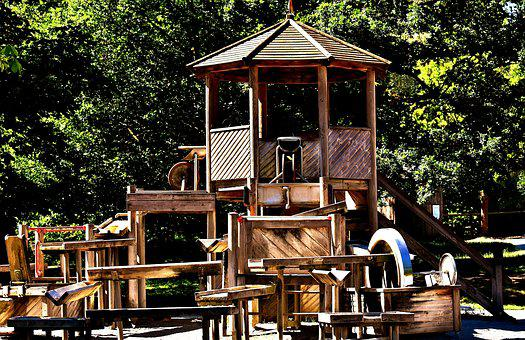 Children's Playground, Kletterhaus, Play, Children, Fun