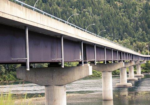 Bridge, Infrastructure, Concrete, Build, Road, Highway