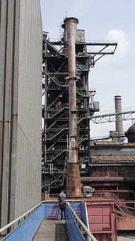 Industry, Old, Old Factory, Chimney, Ironworks