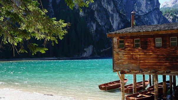 Lake, Boot, Bergsee, Water, Rowing Boat