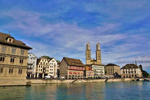 Zurich, Old Town, Switzerland, River