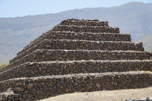 Pyramid, Güimar, Stair Pyramid, Renovated, Tenerife
