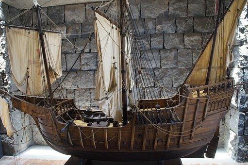 Santa Maria, Columbus, Ship, Three Masted