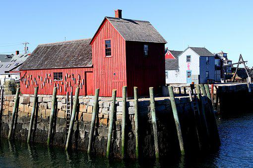 Rockport Massachusetts, Fisherman, Shack, Red, Harbor