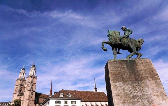 City, Europe, Zurich, Switzerland, Summer