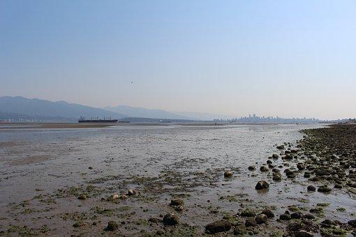 Ocean, Vancouver, Spanish Banks, Canada, Tourism