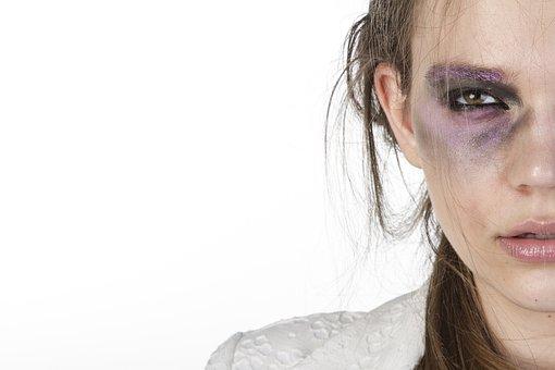 Women's, Make-up, Violence, Photography, Beauty Model