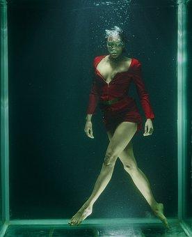 Water, Underwater, Fine Arts, Freedom, Life, Women's