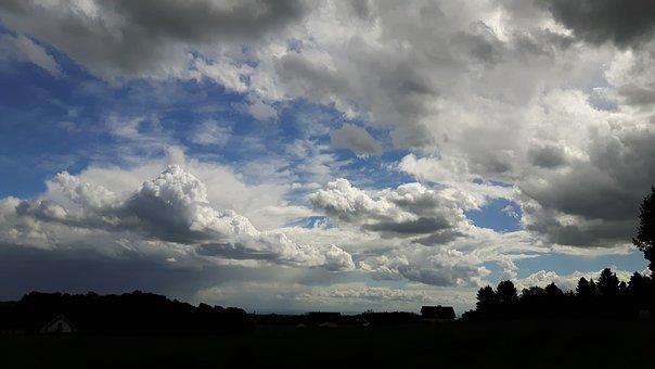 Clouds, Sky, Landscape, Dark Clouds, Covered Sky