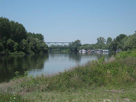 Danube, Slovakia, River, Stream, Water, Current, Rain