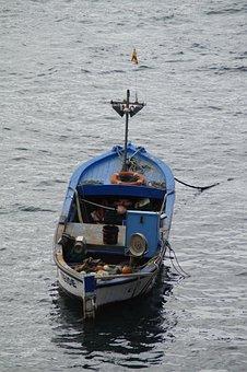 Boot, Fishing Boat, Wooden Boat, Fish, Go Fishing
