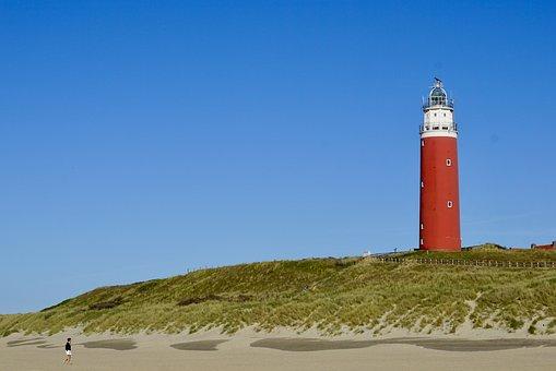 Lighthouse, Texel, Holland, Netherlands, Beach