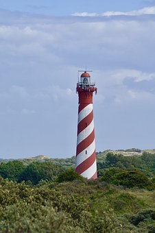 Lighthouse, Schouwse Duin, Holland, Low Country, Sky