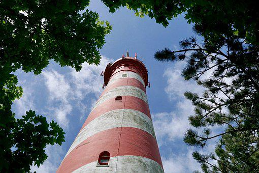 Lighthouse, Holland, Low Country, Sky, Mood