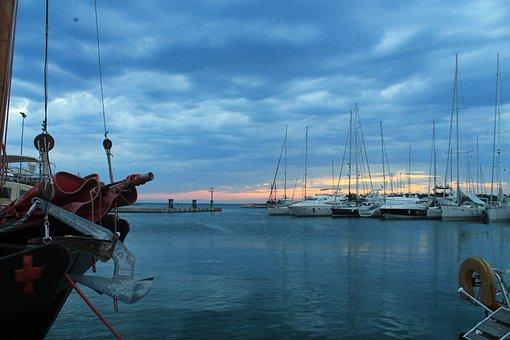 Ship, Sea, Port, Boot, Croatia, Novigrad, Fischer