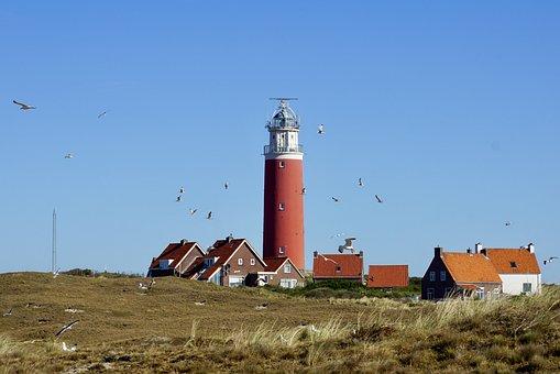 Lighthouse, Texel, Holiday, Beach, North Sea, Sea