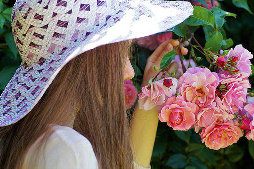 The Girl In The Hat, Hat, Rose, Sleeping Beauty