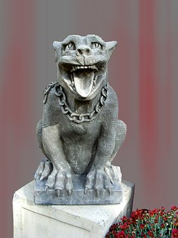 Stone Figure, Animal, Sculpture, Art, Statue, Dog