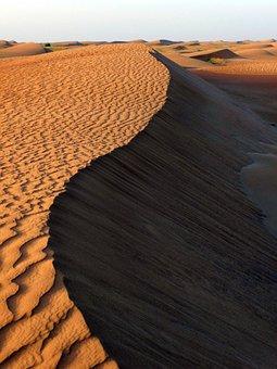 Desert, Dune, Sand, Structure, Comb