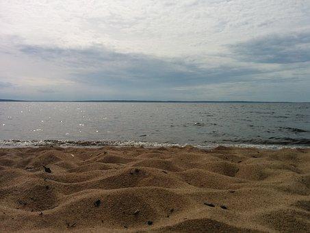 Sand, Himmel, Lake, Summer, Water, Sweden, Beach