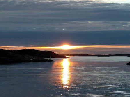 Sea, Sunset, Beautifully, Evening, Twilight