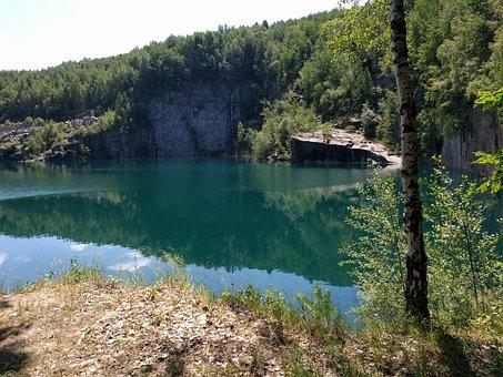Quarry, Lake, Rock, Turquoise