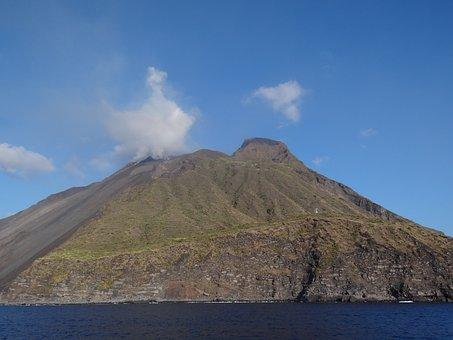 Stromboli, Aeolian, Lipari, Islands, Volcano, Volcanism
