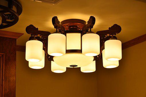 Chinese Lamp, Wood Lamp, China Wind, Chinese Chandelier