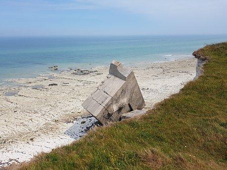 Normandy, Coast, Beach, Bunker, Concrete Bunker