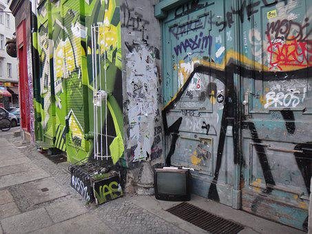 Graffity, Berlin, Germany, Art, Building, Spray