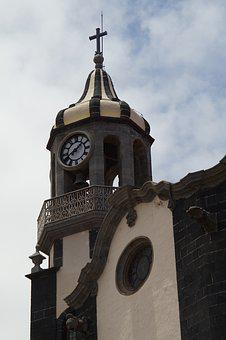 Church, Steeple, Sky, Building, Architecture, Tenerife