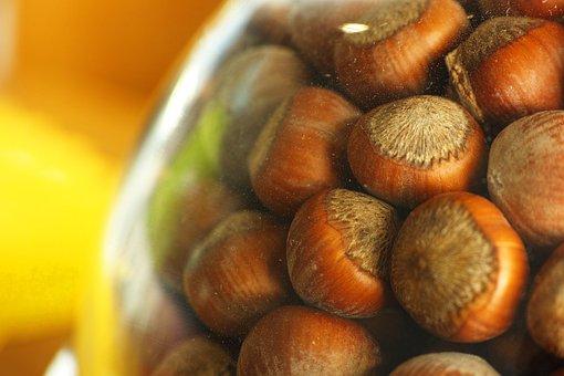 Hazelnut, Shelled, Cookies, Brown, Food, Nutrition