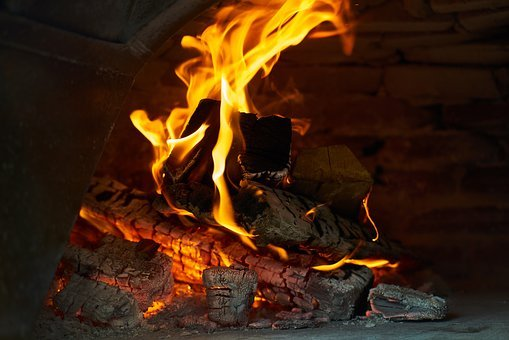 Flame, Ali, Macro, Fireplace, Cook, Dark, Photo, Wind