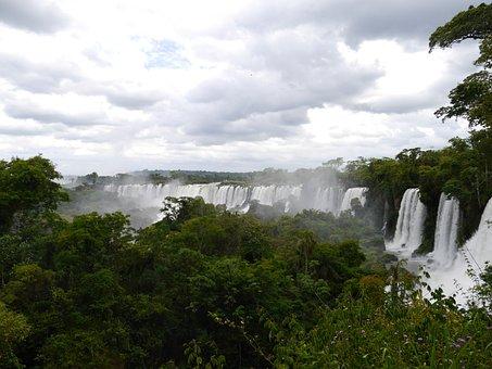 Iguazu, Waterfall, Iguazú Waterfalls, Nature, Water