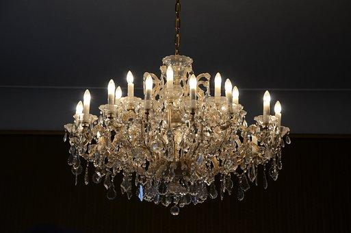 Chandelier, Light, Light Bulb, Lighting, Architecture