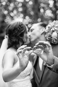 Wedding, Kiss, Hands, Rings, Before, Lovers, Marry