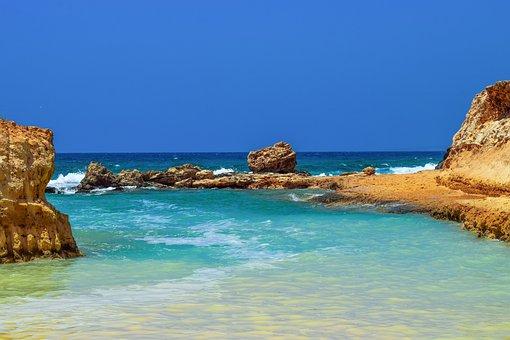 Cove, Lagoon, Rocky Coast, Blue, Landscape, Nature