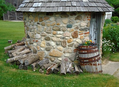 Outbuilding, Shed, Woodpile, Country, Firewood, Texture