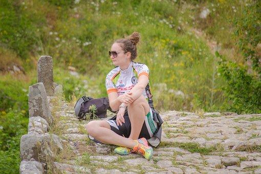 Girl, Athlete, Looking, Away, Outdoor, Portrait, Female