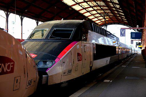 Tgv 1 Team, Railway, French, Old Model, High Speed