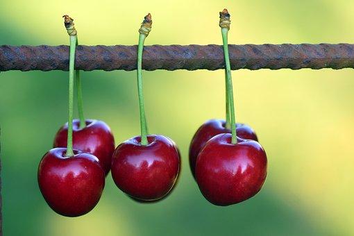 Cherries, Fruits, Fruit, Red, Sweet Cherry, Nature
