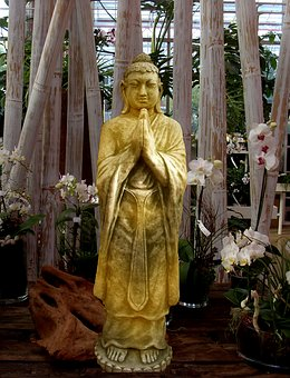 Buddha, Statue, Sculpture, Stone Figure, Gold, Art