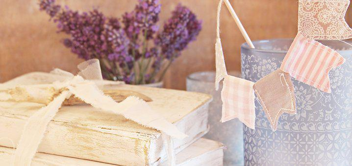 Books, Shabby Chic, Lavender, Flags And Pennants