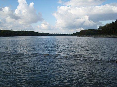 Danube, River, Border, Slovakia, Hungary, Water